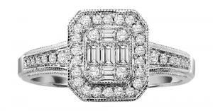 14K Gold Diamond Ring 3/8 ctw/FR4113