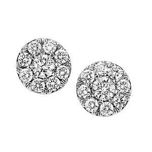 1 1/2 ctw Ideal Cut Diamond Earrings in 14K White Gold / HDER090ID