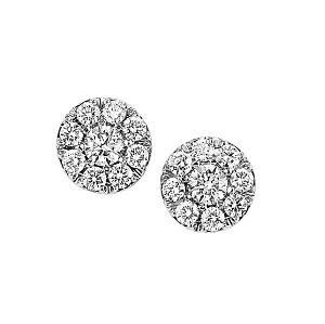 2 ctw Ideal Cut Diamond Earrings in 14K White Gold / HDER091ID