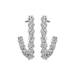 2 ctw Ideal Cut Diamond Earrings in 14K White Gold /HDER122ID