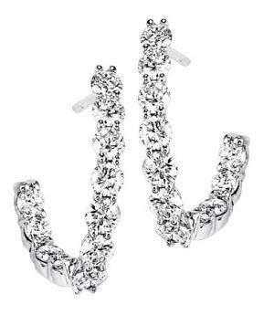 2 ctw Diamond Earrings in 14K White Gold / HDER122