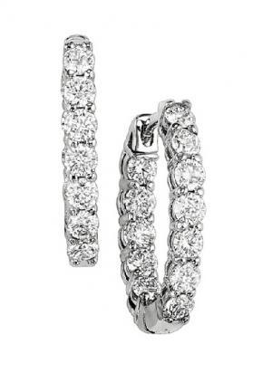2 ctw Diamond Earrings in 14K White Gold /HDER126LW