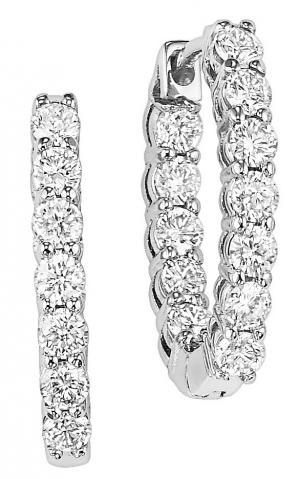 3 ctw Diamond Earrings in 14K White Gold / HDER127LW