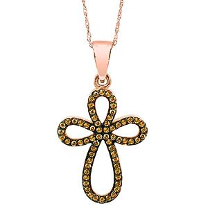 Gold Diamond Pendant/HDP701DB