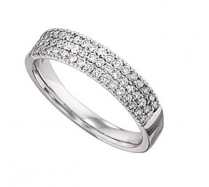 1/2 ctw Diamond Ring in 14K White Gold/LRD0260