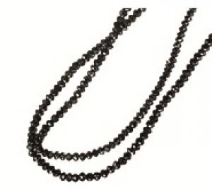 Black Diamond Bead Necklace/NBK10418