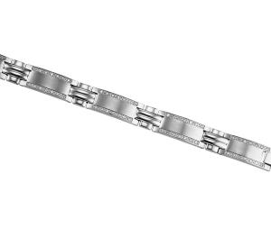 Men's 1 ctw Diamond Bracelet in Stainless Steel / TI1036