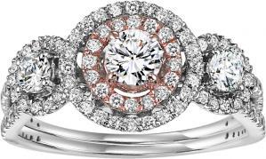 14K White Gold Diamond Semi Mount  ring 3/4 ctw : WB5842E- Semi